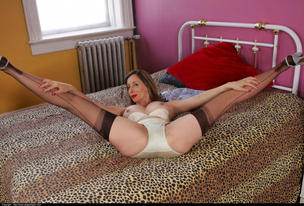 milf spreads her legs wide